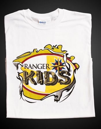 Ranger Kids White T-shirt - Adult 4XL