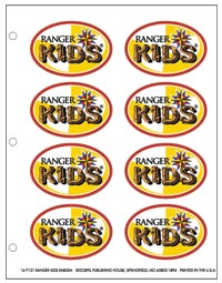 Ranger Kids Emblem Sticker Sheet