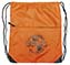 BGMC Orange Nylon Drawstring Tote Bag