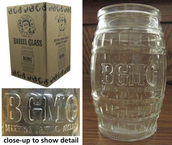 BGMC Barrel-Shaped Drinking Glass