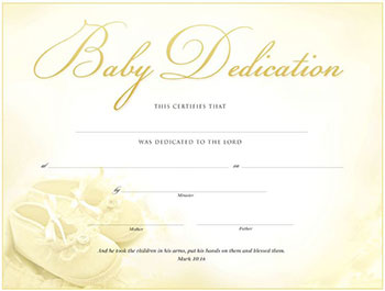 baby dedication certificates quotes