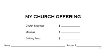 My Church Offering Boxed Set Offering Envelopes Item 088764