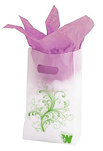 Frosted gift bags item