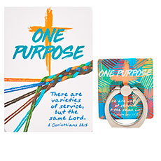 One Purpose Cell Phone Ring Holder & Card