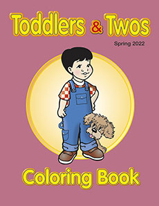 Toddlers & Twos Coloring Book Spring