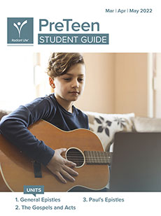 PreTeen Student Guide Spring