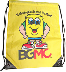 BGMC Yellow Nylon Backpack